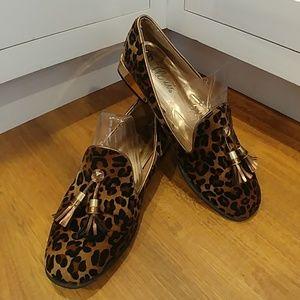 BELLINI 'Brittany' Leopard Print Loafers Tassels